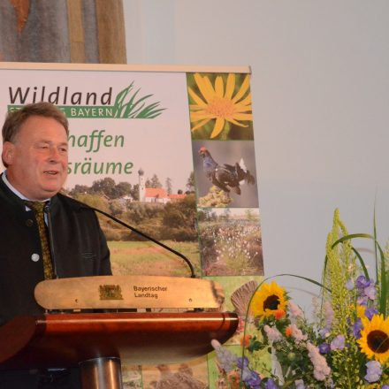Vertreter der Staatsregierung: Staatsminister Helmut Brunner, MdL, StMELF©Wildland-Stiftung Bayern