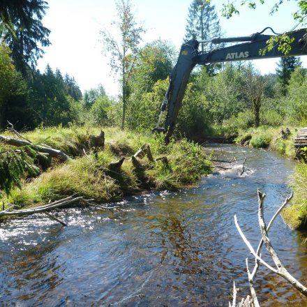 Renaturierung mit schwerem Gerät©C. Schmidt / Nationalparkverwaltung Bayerischer Wald