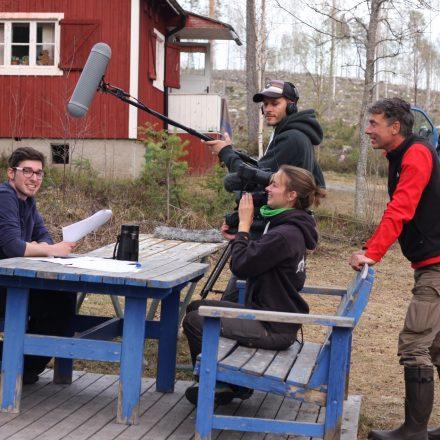 "Vorbereitungen zu den Dreharbeiten am ""Basislager""©T-Kuhn"