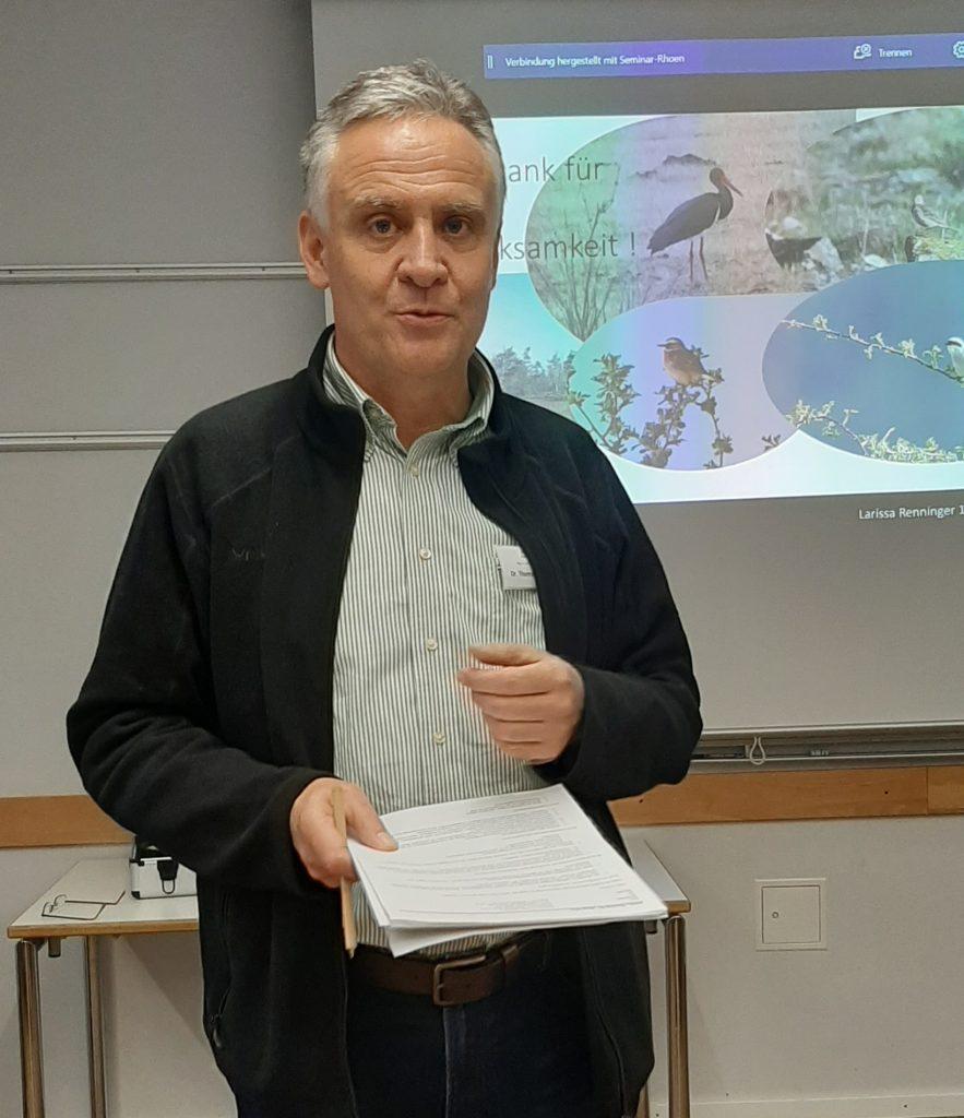 Dr. Thomas Keller von der Höheren Naturschutzbehörder der Regierung von Unterfranken moderierte den Workshop@Wildland-Stiftung Bayern